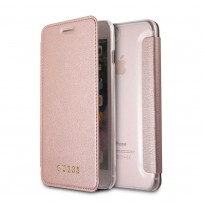 Чехол Guess для iPhone 7/ 8 Plus Iridescent Booktype PU Rose gold