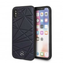 Чехол Mercedes-Benz для iPhone X/XS Twister Hard Leather Blue