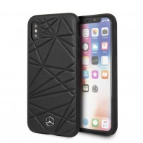 Чехол Mercedes-Benz для iPhone X/XS Twister Hard Leather Black