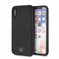 Чехол Mercedes-Benz для iPhone X/XS New Organic I Hard Leather Black