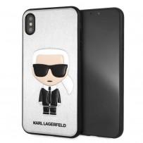 Чехол KARL Lagerfeld для iPhone XS Max PU Leather Iconic Karl Hard Silver