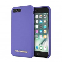 Чехол KARLLagerfeld для iPhone 7/8 Plus Liquid silicone Gold logo Hard Violet