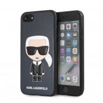 Чехол Karl Lagerfeld для iPhone 7/8/SE 2020 PU Leather Iconic Karl Hard Blue