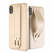 Чехол Guess для iPhone XS Max Iridescent Hard with hand strap Beige (GUHCI65SBSBE)