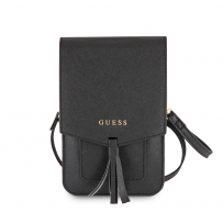 Сумка Guess для смартфонов  Wallet Bag Saffiano look Black (GUWBSSABK)