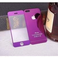 """Двусторонние защитное стекло """"Mirror"""" для iPhone 5/5S, фиолетовое."""