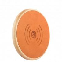 Беспроводное зарядное устройство i-Carer (5-9V-1A) Genuine Leather Fast Wireless charging (NW170F-IYD0005khaki) кожа Хаки