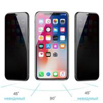 """Стекло защитное """"Антишпион"""" 3D для iPhone XS/ X/ 11 Pro"""