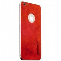 Наклейка кожаная Jisoncase для iPhone 6s Plus/ 6 Plus (5.5) JS-I6L-14A30 Genuine leather, Красная