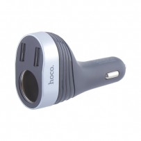 Разделитель автомобильный Hoco Z29 Regal digital display cigarette lighter car charger (2USB: 5V & 2.4A) Черный