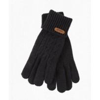"""Шерстянные перчатки iGloves, """"Витой орнамент"""", черные, (мужские)"""