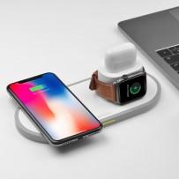 Беспроводное зарядное устройство Deppa 3в1 для Apple iPhone/ Apple Watch все/ Air Pods 1/2