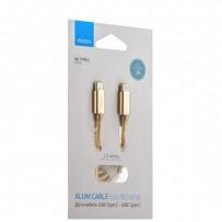 USB дата-кабель Deppa ALUM USB Type-C - USB Type-C D-72247 (USB 2.0 3A) 1.2м Золотистый