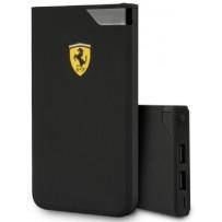 Аккумулятор внешний универсальный Ferrari 10000 mAh, цифровой дисплей, 2 USB Rubber, черный