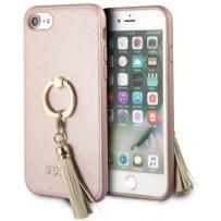 Чехол GUESS для iPhone 7/8 SE 2 Saffiano Hard PU + Ring Pink