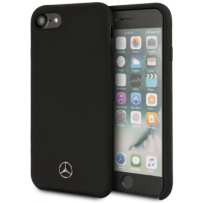 Чехол Mercedes-Benz для iPhone 7/8/ SE (2020) Silicone line Hard Black