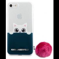 Чехол Karl Lagerfeld для iPhone 7/8/ SE (2020) K-Peek A Boo Hard Transparent TPU Pink