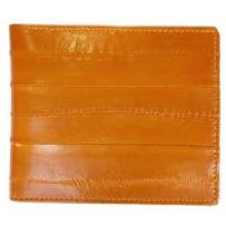 Мужской кошелек из натуральной кожи угря, коричневый