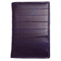 Обложка на паспорт из натуральной кожи угря, фиолетовый