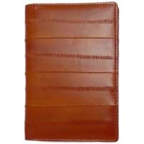 Обложка на паспорт из натуральной кожи угря, коричневая