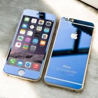"""Двусторонние защитное стекло """"Mirror"""" для iPhone 6, темно-синий."""