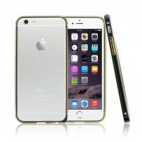"""Бампер алюминиевый """"DX"""" для iPhone 6, черный"""