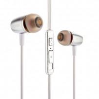 Наушники Aspor A202 с микрофоном алюминиевые серебристые