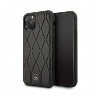 Чехол Mercedes-benz для iPhone 11 Pro Wave Quilted Hard Leather Black