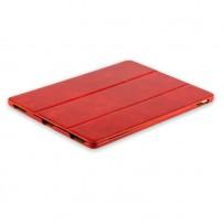 """Чехол кожаный i-Carer для iPad Pro (12,9"""") 2017г. Vintage Series (RID709red) Красный"""