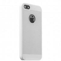 Накладка пластиковая ультра-тонкая Loopee для iPhone 5s/ 5 с перфорацией Белая