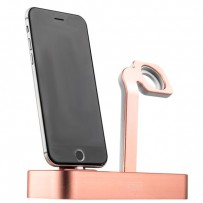 Док-станция COTEetCI Base5 Dock для Apple Watch & iPhone XS/ XS MAX/ 8 Plus/ 8 SE/ iPod 2in1 stand CS2095-MRG Pink-gold - Розовое золото