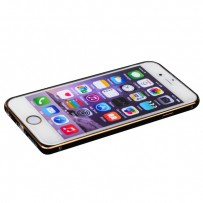 Бампер металлический iBacks Arc-shaped Damascus Aluminium Bumper for iPhone 6s/ 6 (4.7) - gold edge (ip60012) Black Черный