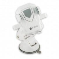 Автомобильный держатель COTEetCI ST-15 для смартфонов (ST3115-WG) универсальный с присоской (ширина 95mm) Белый/ серый