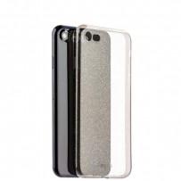 Чехол-накладка силикон Deppa Chic Case с блестками D-85298 для iPhone 7/8 (4.7) 0.8мм Черный борт