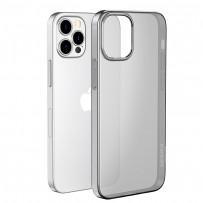 """Чехол силиконовый Hoco Light Series для iPhone 12 Pro Max (6.7"""") Дымчатый"""
