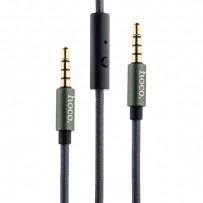 Кабель Hoco UPA04 AUX Noble sound series Audio Cable 3.5mm (with Mic) (1.0 м) Графитовый