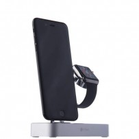 Док-станция COTEetCI Base (B18)MFI Hub Dock для Apple Watch & iPhone 2in1 stand CS7200-TS Silver - Серебро