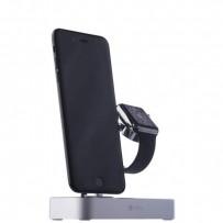 Док-станция COTEetCI Base (B18)MFI Hub Dock для Apple Watch & iPhone 2in1 stand CS7200-TS Silver - Серебро
