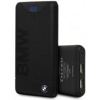 Аккумулятор внешний универсальный BMW Wireless 10000 mAh, цифровой дисплей, 2 USB, черный