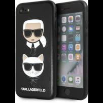 Чехол Karl Lagerfeld для iPhone 7/8/ SE (2020) Embossed Karl and Choupette Hard PU Black