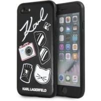 Чехол Karl Lagerfeld для iPhone 7/8/ SE (2020) Embossed Pins PU Black