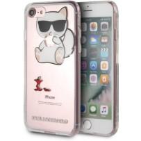 Чехол Karl Lagerfeld для iPhone 7/8/ SE (2020) TPU collection Choupette Apple Hard Transp