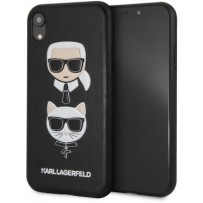 Чехол Karl Lagerfeld для iPhone XR PU Leather Karl and Choupette Hard Black