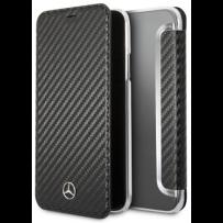 Чехол Mercedes-benz для iPhone XR Dynamic PU leather Booktype Black