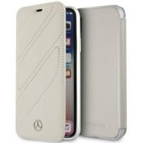 Чехол Mercedes-benz для iPhone XR New Organic I Booktype Leather Grey