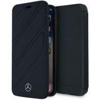 Чехол Mercedes-benz для iPhone XR New Organic I Booktype Leather Blue
