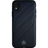 Чехол Mercedes-benz для iPhone XR New Organic I Hard Leather Blue