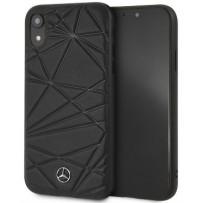 Чехол Mercedes-benz для iPhone XR Twister Hard Leather Black