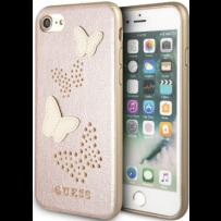 Чехол GUESS для iPhone 7/8 SE 2 Studs&Sparkles Hard PU/Butterflies Rose gold