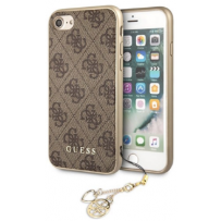 Чехол GUESS для iPhone 7/8/ SE (2020) 4G Charms collection Hard Brown